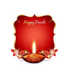 diwali greeting vector image