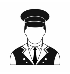 Doorman black simple icon vector