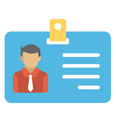 Employee id card vector