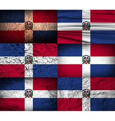 Flag of dominican republic with old texture vector
