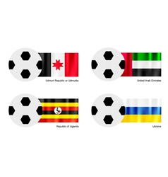 Football of Udmurtia United Arab Emirates Uganda vector image