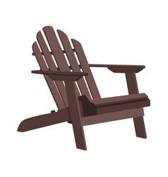 Garden outdoor wooden chair vector