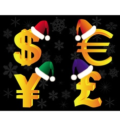 gold currency xmas vector image