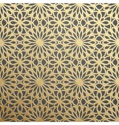 Golden geometric 3d seamless pattern vector image