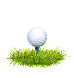 Golf ball and tee vector