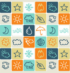 hand drawn icons set - weather vector image