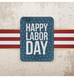 Happy Labor Day realistic paper Tag vector image
