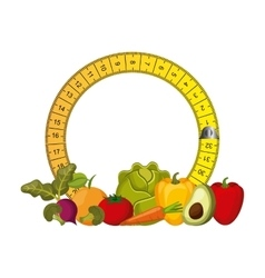 Healthy food for dieting design vector