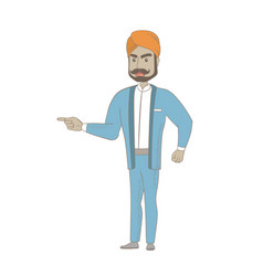 Hindu furious businessman screaming vector