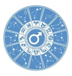 Horoscope circle for manZodiac signgender vector image