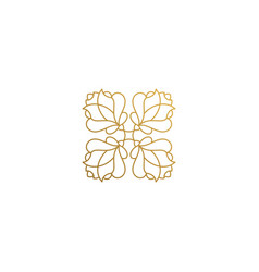 Icon floral ornament hand drawn vector