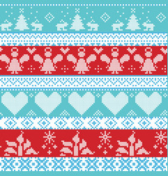 Light blue blue white and red Scandinavian vector image