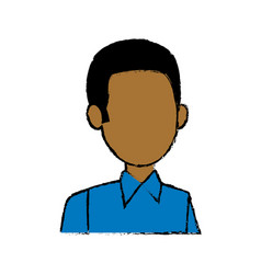 man character head default male image vector image