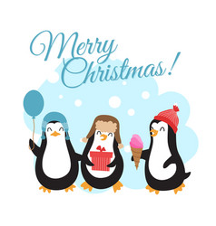 merry christmas winter holidays vector image