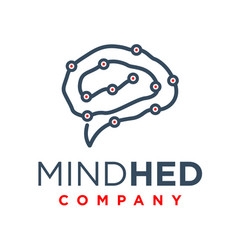 modern human intelligence logo vector image