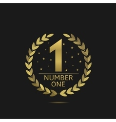 Number one symbol vector image