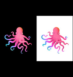 octopus colorful futuristic character design vector image