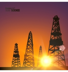 Oil derricks vector