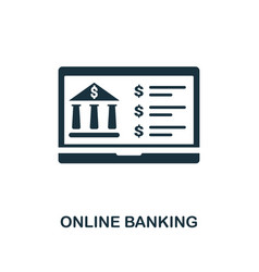online banking icon line style icon design from vector image