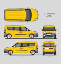 Opel combo 2016 l2h1 combi passenger van vector