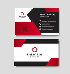 professional red business card vector image