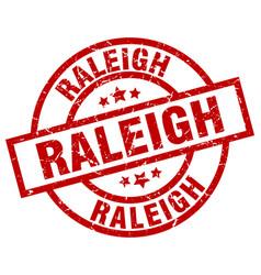 Raleigh red round grunge stamp vector