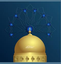 Ramadan kareem islamic ornament with mosque vector