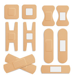 realistic adhesive elastic medical plaster vector image