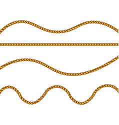 realistic fiber ropes vector image