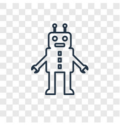 Robot toy concept linear icon isolated on vector