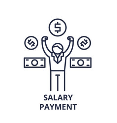 salary payment line icon concept salary payment vector image