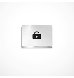 Secure button vector