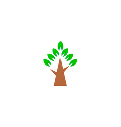 simple green tree logo symbol vector image