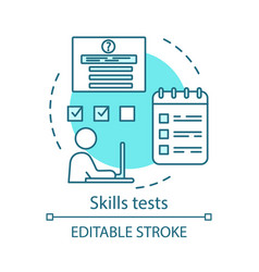 Skills tests concept icon vector
