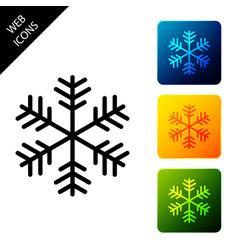 snowflake icon isolated on white background set vector image