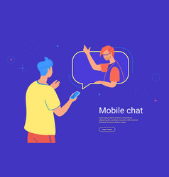 Social media mobile chat and communication vector