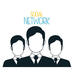 social network with community vector image