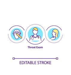 throat exam concept icon vector image
