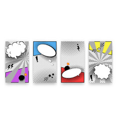 Trendy editable set templates for social media vector