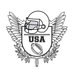usa american football sport in black and white vector image