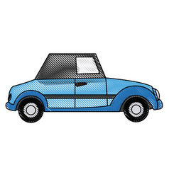 wedding car convertible old fashion style vector image