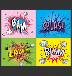 comic book explosions vector image vector image