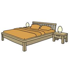 Double bed vector