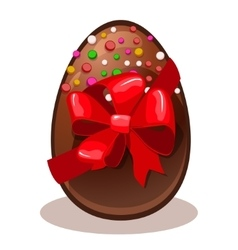 Happy Easter gift- chocolate egg vector image