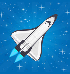 shuttle in space vector image vector image