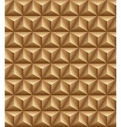 Tripartite pyramid brown seamless texture vector image vector image