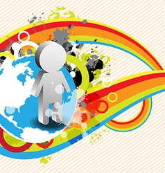 abstract retro banner design vector image vector image