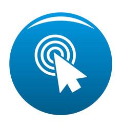 cursor design element icon blue vector image vector image