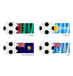 Football of Turkmenistan Tuva Turks and Caicos vector image