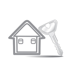 Keys and House isolated vector image vector image